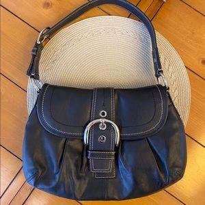 COACH black leather shoulder bag / purse